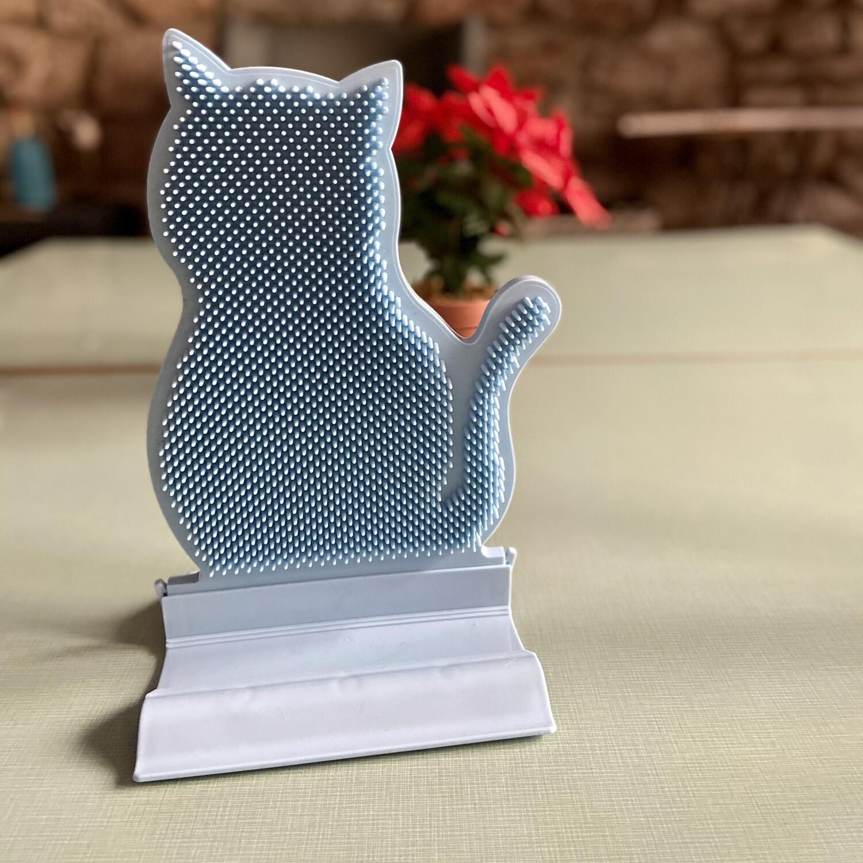 Rascador / cepillo forma gato