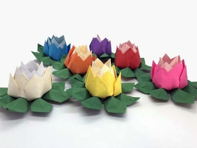 Origami Lotus Flower (2 colour tone) - Home Decor - Wedding Decorations