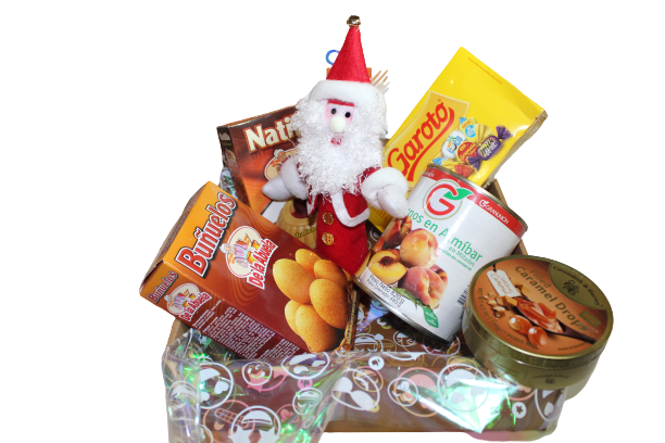Caja Navideña con Papá Noel