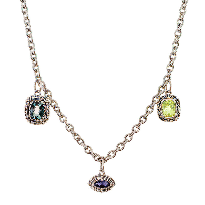 Isabella Triple Gem Necklace
