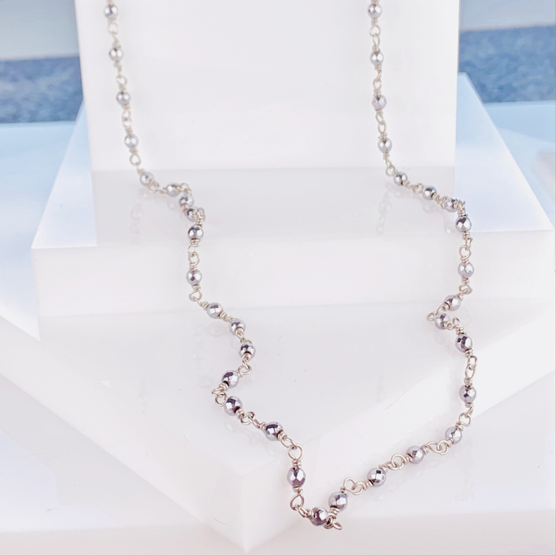 Caviar Hematite Necklace