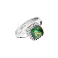 Crown Jewels Green Quartz Ring