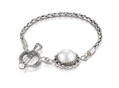 Vintage Lace Mabe Pearl Bracelet