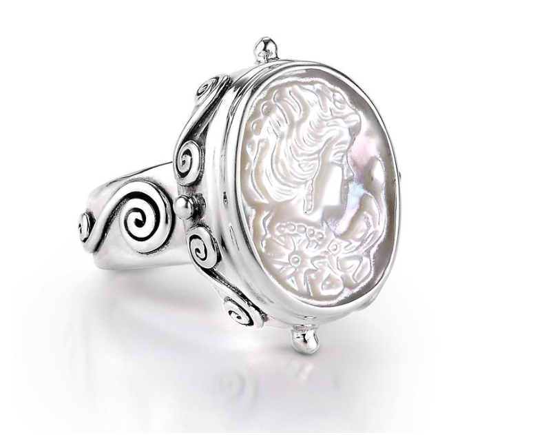 Small Cameo Statement Ring