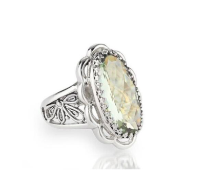 Vintage Lace Green Amethyst Ring