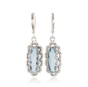Vintage Lace Blue Topaz Earrings