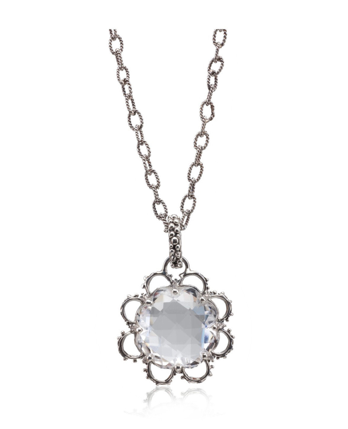 Briolet Lace Flower Necklace