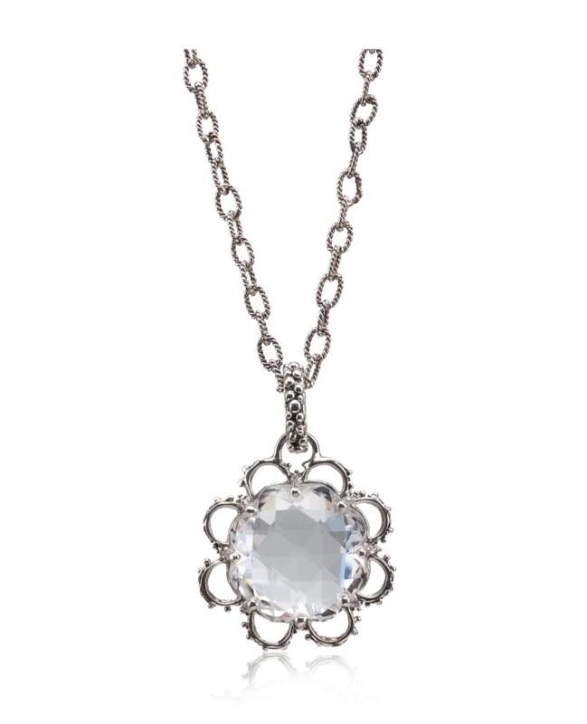 Briolet Lace Flower Necklace