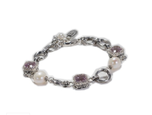 Crown Rose De France Pearl Bracelet
