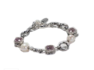 Crown Rose De France Pearl Bracelet