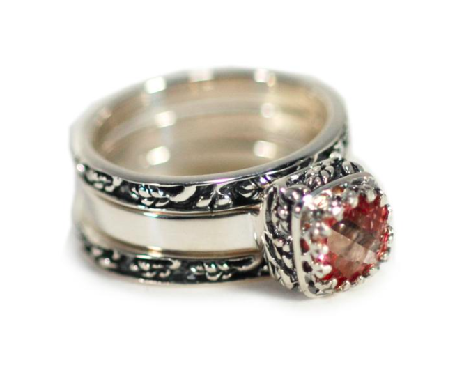 Crown Jewels Pink Topaz Stacking Ring