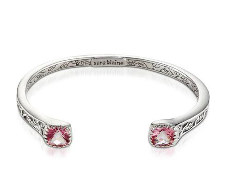 Crown Jewels Pink Topaz Cuff Bracelet