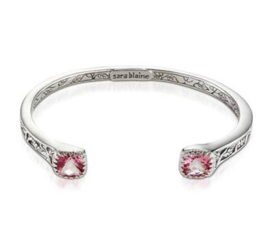 Crown Jewels Pink Topaz Cuff Bracelet
