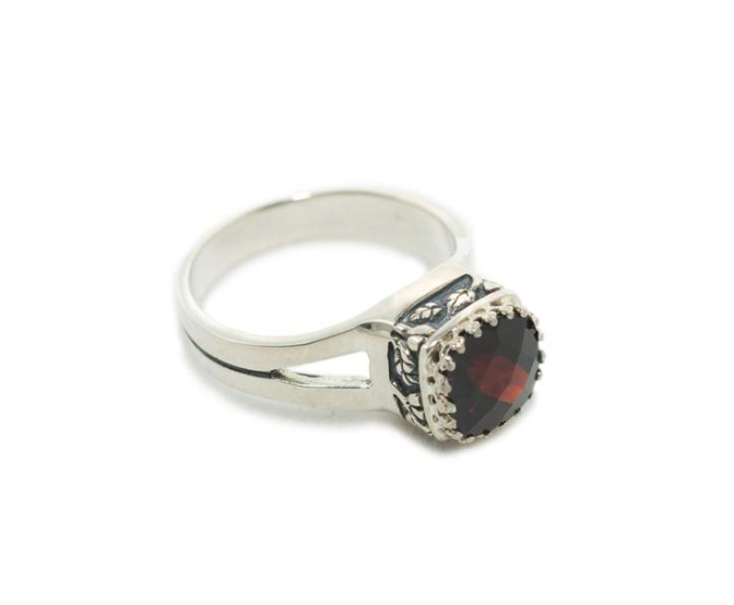 Crown Jewel Garnet Ring