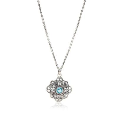 Signature Lace Blue Topaz Necklace