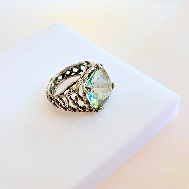 Baroque Peridot Ring