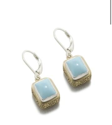 Turquoise Bronze Earrings
