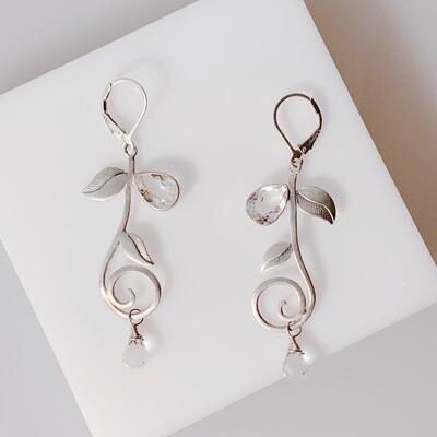 Topaz Leaf Earrings