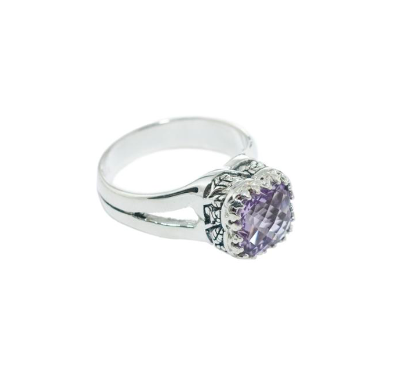Crown Jewels Floral Rose De France Ring