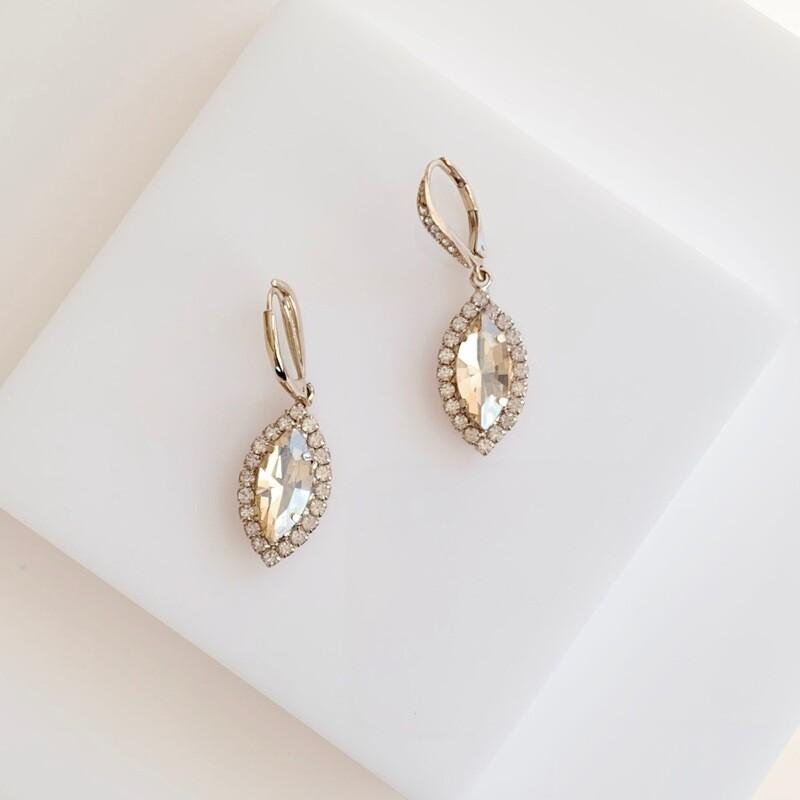 Jolie Crystal Drop Earrings