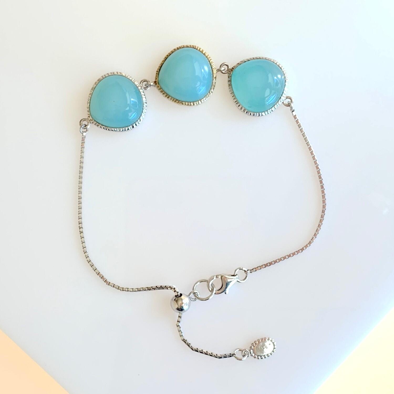 Aqua Chalcedony Bracelet