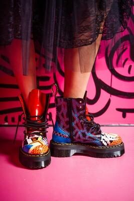 Dr Martens Art Fashion Graffiti- Designer Alexandra Dohmen