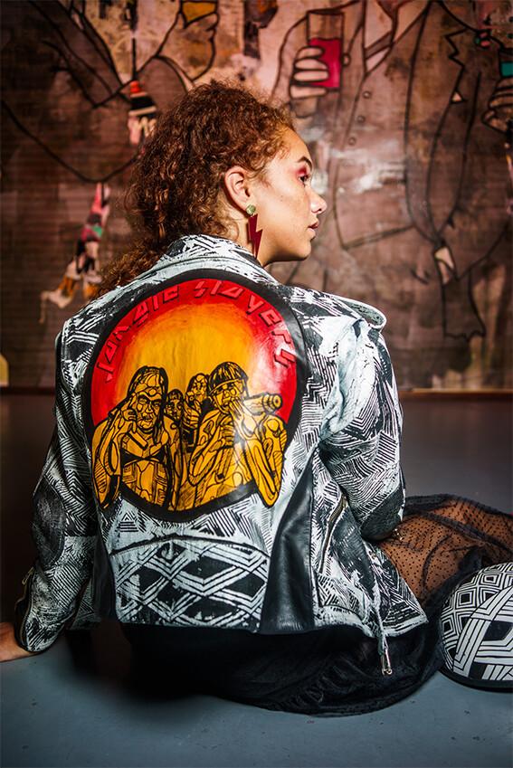 Leather Jacket- Designer Fernanda Fernandes