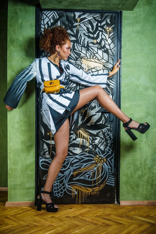 Art Fashion Graffiti Kimono- Designer Priscila Thomas