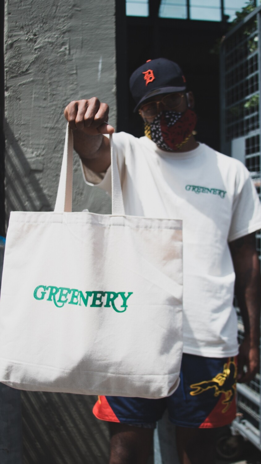 Greenery Canvas Tote
