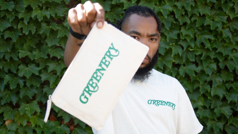 Greenery Canvas Zip Bags