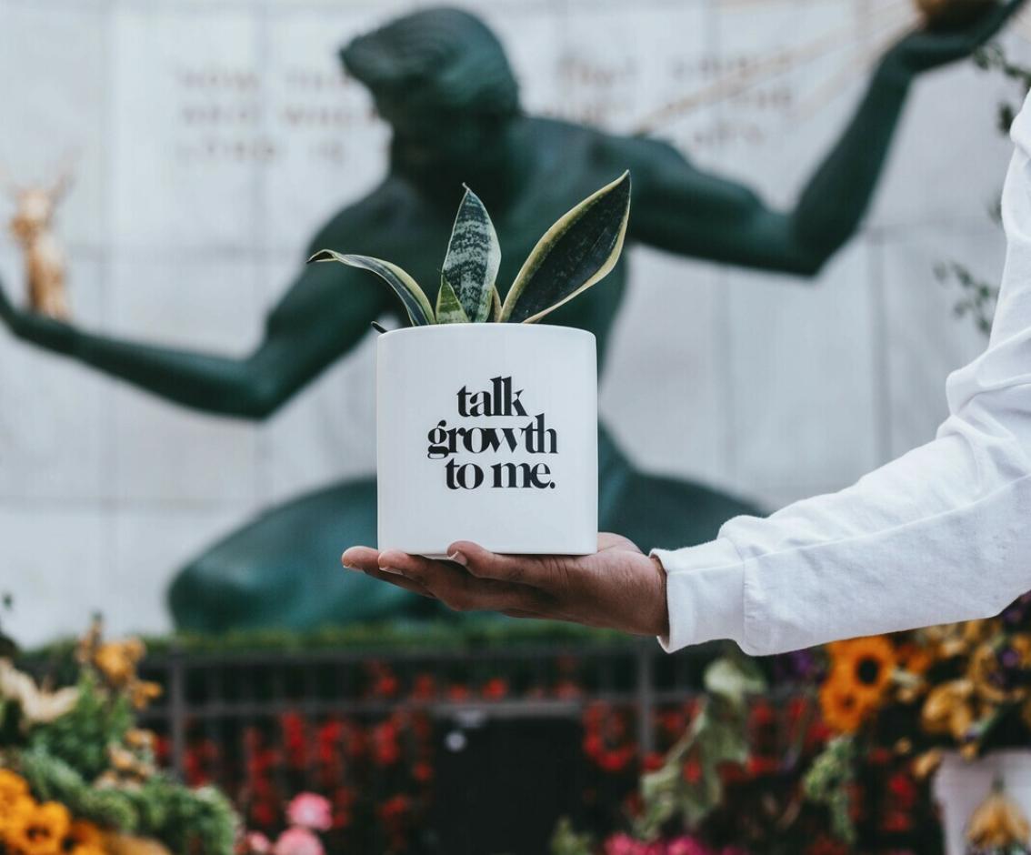 Ceramic Talk Growth to Me (Various Sizes)  — White