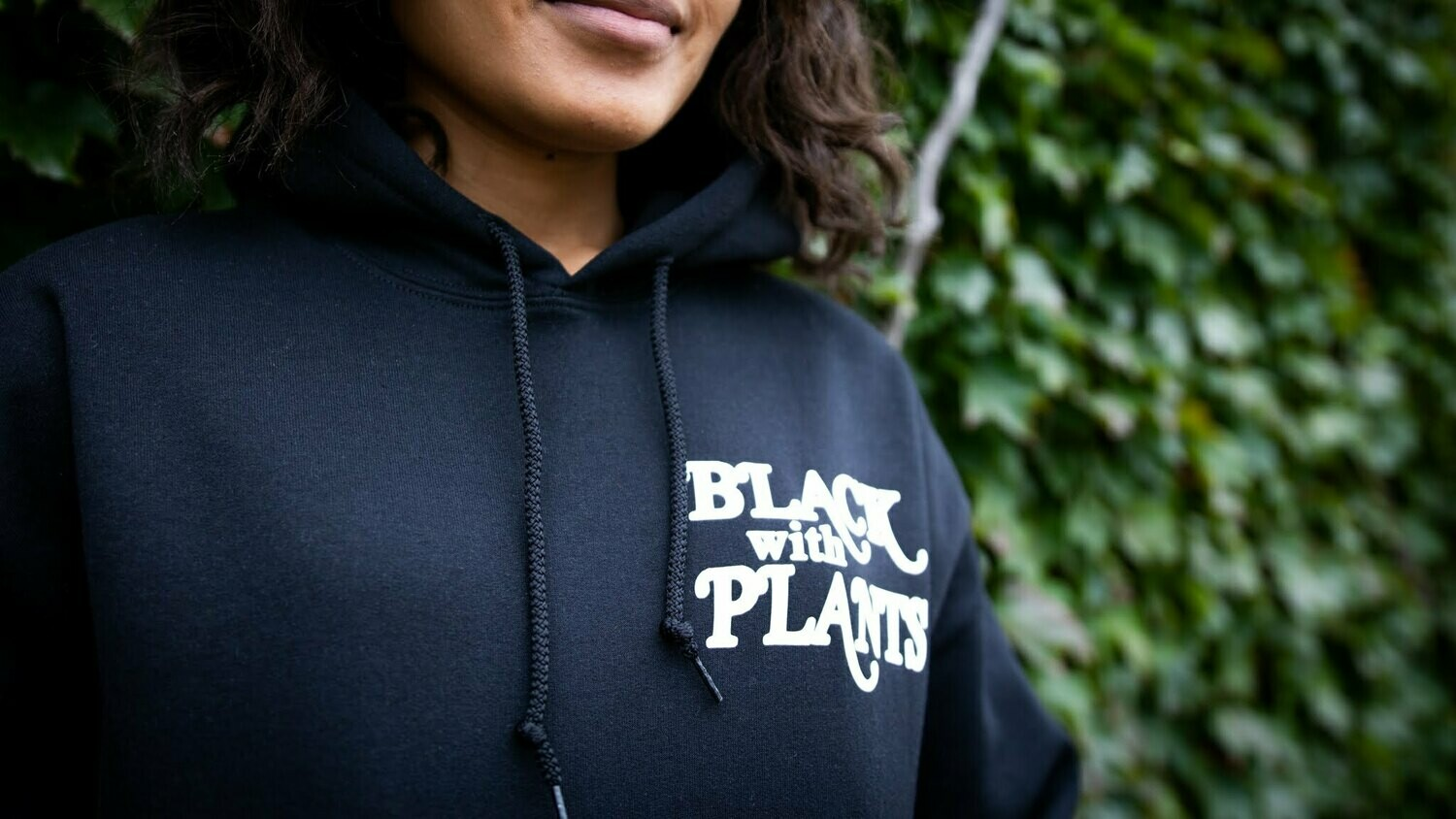 Black With Plants — Hoodie