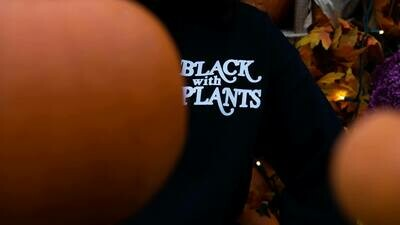 Black With Plants —  Long Sleeve Tee