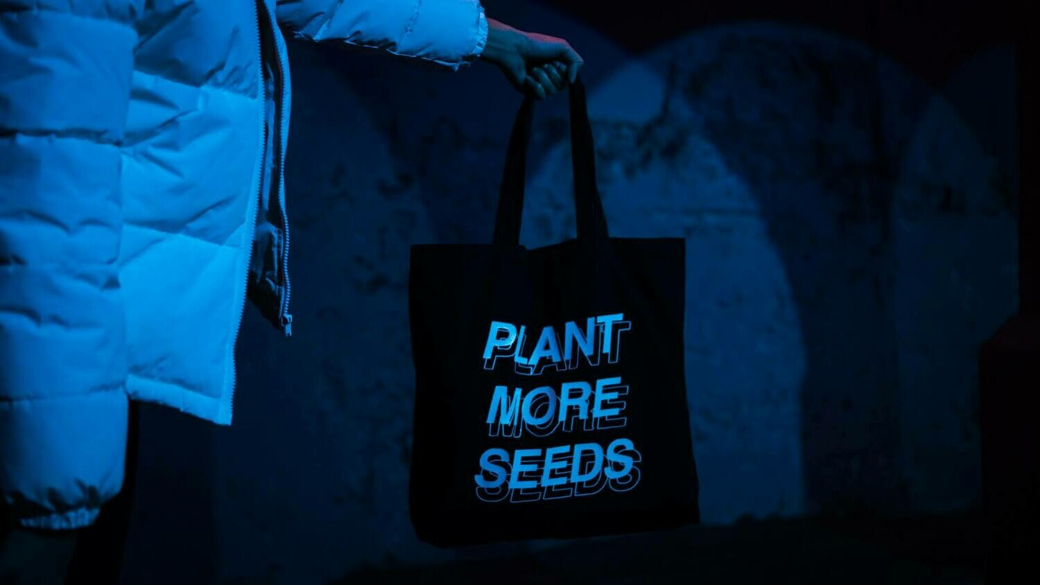 Plant More Seeds Canvas Tote — Black