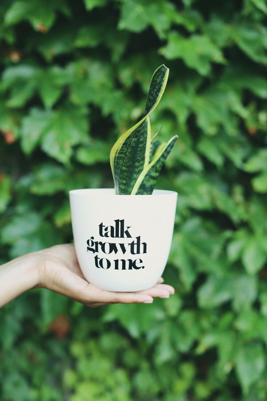 "Talk Growth to Me (White or Black) — 4.5"""