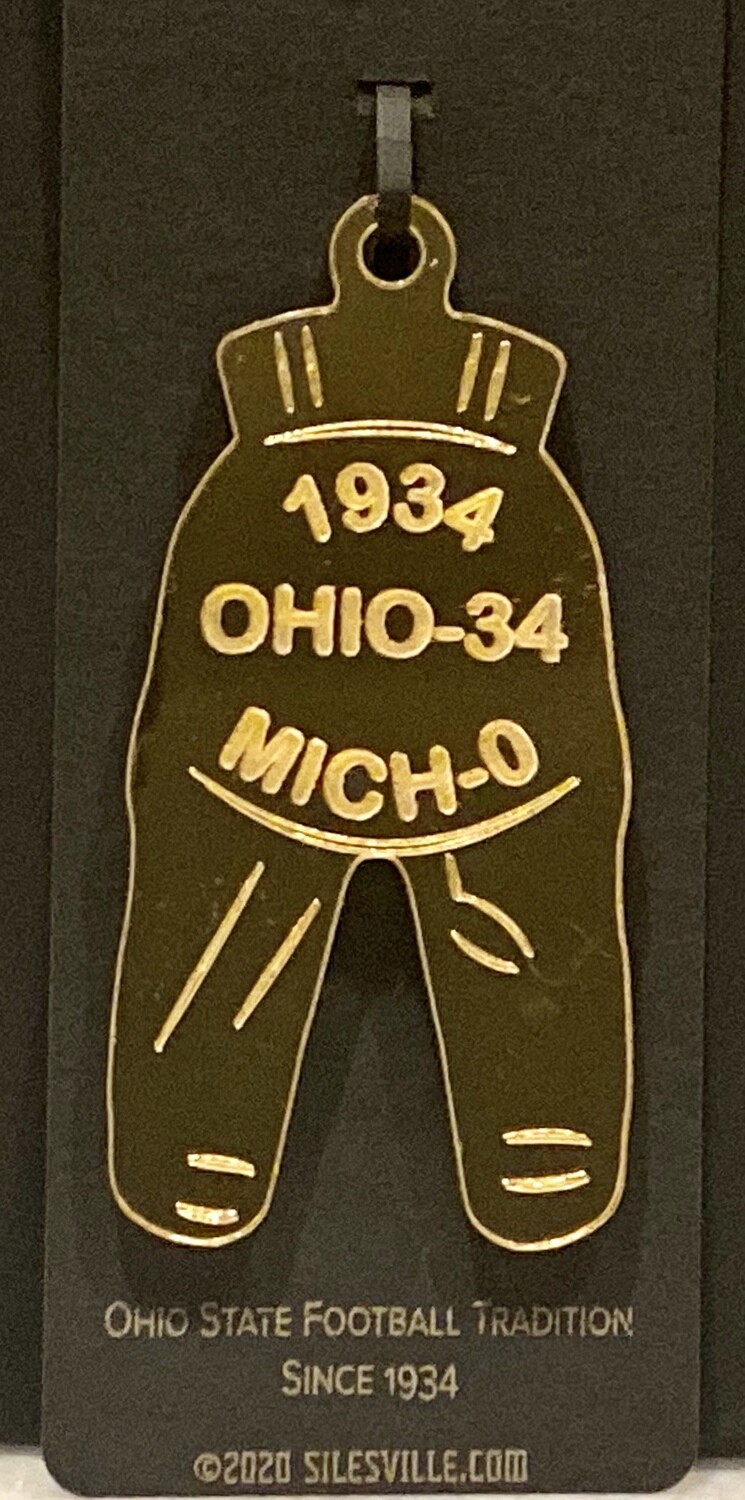 Ohio State Gold Pants Ornament - All Years (1934-2019)