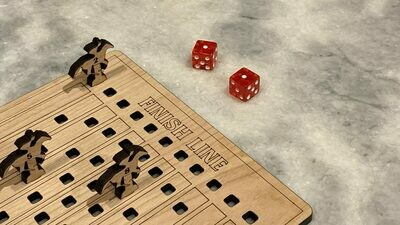 11 Horses Racing Dice Game - Laser Design File - Instant Download