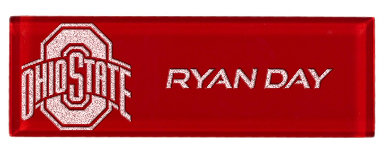 OSU Laser Engraved Name Plate