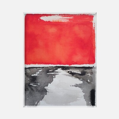 Paysage abstrait rouge