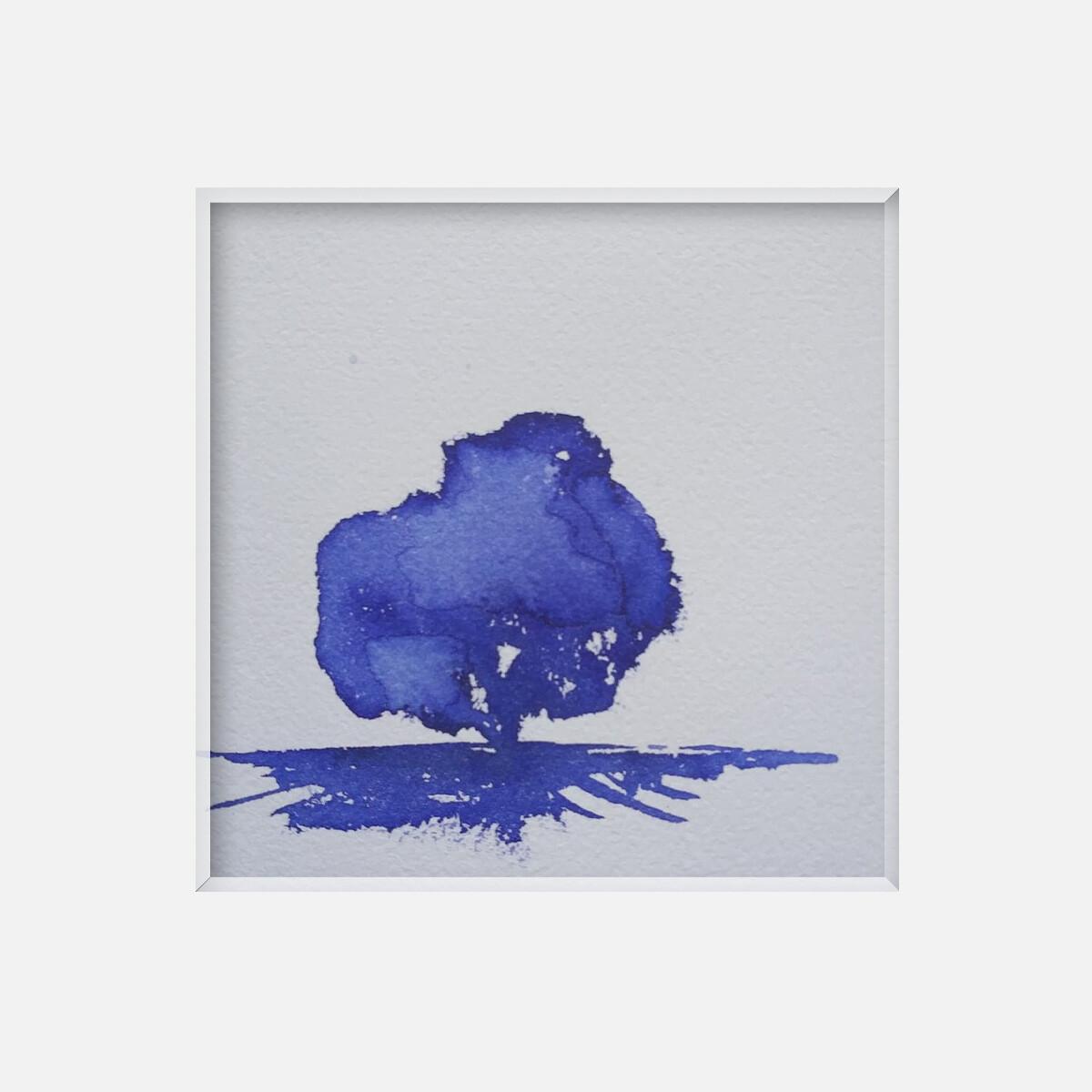 Arbre abstrait bleu