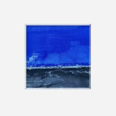 Paysage abstrait bleu