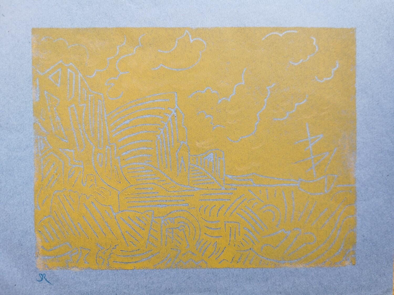 Linocut 'Turner Inspired'