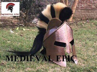 KING SPARTAN 300 MOVIE HELMET WITH PLUME HALLOWEEN COSTUME