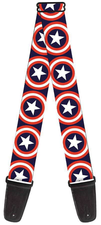 Buckle-Down Captain America Sheild Guitar Strap BD-WCA012