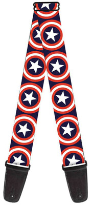 Buckle-Down Captain America Sheild Guitar Strap BD-WCA012
