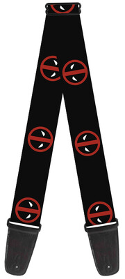 Buckle-Down Marvel Universe Deadpool Logo Guitar Strap BD-WDP007