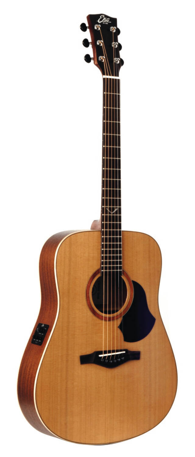 Eko EVO D EQ Natural Guitar - Solid Cedar Top