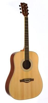 Eko TRI D Natural Guitar - Solid Spruce Top