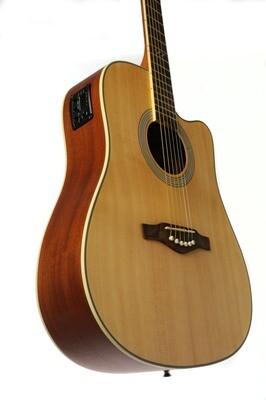 Eko TRI D Cw Eq Natural Guitar - Solid Spruce Top
