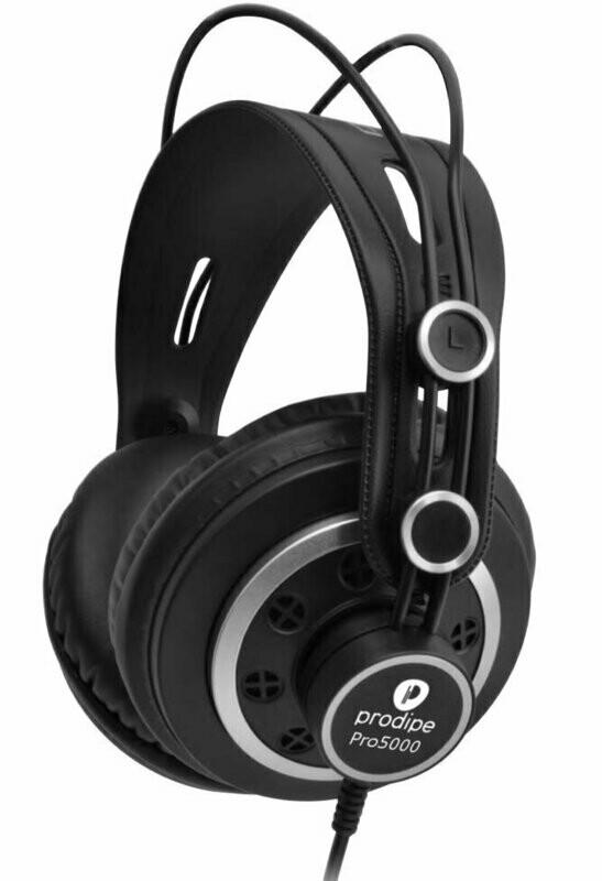 Prodipe PRO5000B Professional Monitoring Headphones Black